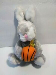 "Dan Dee Gray and White Bunny Rabbit Basketball Plush Toy 9"" Easter"