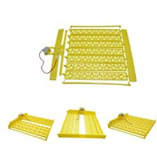 48-154 Egg Turner Tray Poultry Goose Birds Egg Hatcher Accs Supplies Yellow