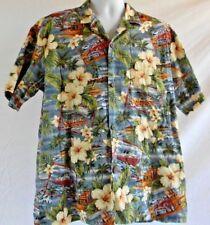 Royal Hawaiian Creations Men's Shirt Button Front Left Pocket Vacation Island XL