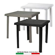 Tavoli da esterno in plastica bianca ebay - Tavoli in plastica da esterno ...