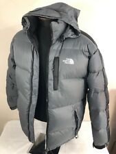 The North Face Jacket Puffer Down 700 TNF Gray Black Coat Ski Winter Hood Large