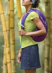 ATHLETA Bettona Classic Skort Knit Stretch Hiking Size Small 567658 Denim Blue