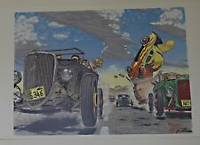 Robert Williams Hot Rod Race Hand Signed Poster