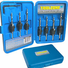 Tapered Countersink Drill Bits Set/ depth stop Countersink and Drill Wood in 1