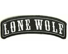 LONE WOLF PATCH 4 BIKIE BIKER VEST EMBROIDED SHIRT CAP HELMET JACKET BOOTS GLOVE