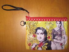 Kitschy Indian BOLLYWOOD LADY Vinyl Clutch Purse Bag Kitsch Hindi Cinema Movies