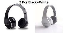 2Pcs Wireless Stereo Bluetooth Headphones for Mobile Cell Phone Laptop Tablet PC