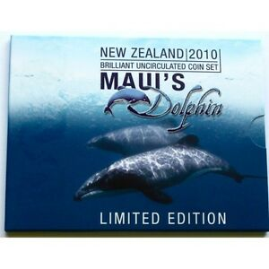 New Zealand - 2010 - Brilliant Uncirculated Coin Set- -Maui's Dolphin