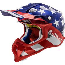 LS2 Subverter Off-Road MX SxS Helmet Krome Glory Red/White/Blue Large NEW