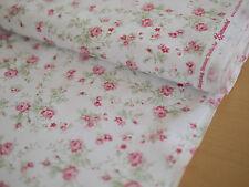 clothworks Tela Patchwork Rosas, emma's GARDEN, Blanco Rosado röschen