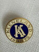 Vintage 1975 Keeneland Club Member Lapel Pin Horse Racing Breeders Cup #421 Rare