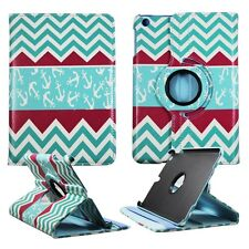 MULTI ANCHOR CHEVRON CASE IPAD MINI 1 / 2 / 3 360 ROTATING STAND TABLET COVER