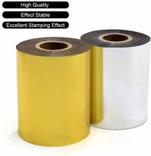 "Hot Foil Stamping Paper 3"" x 400ft Heat Transfer Gold and Silver"