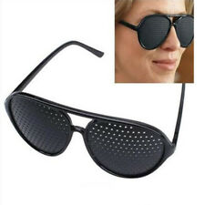 Eyesight Improvement Vision Care Eyewear Exercise Pinhole glass Training Black~