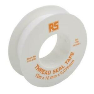 1 x RS PRO White PTFE Thread Seal Tape 12mm x 12m x 0.075mm