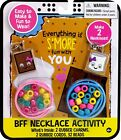 BFF Necklace Activity Set S'mores Makes 2 Necklaces Charms and Beads Girls Gift