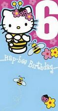 Hello Kitty Age 6 Die Cut Birthday Card