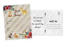 20 Boy Woodland Baby Shower Invitations Deer Baby Shower Invitation Card Invites