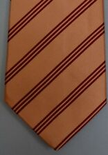 "Kiton Napoli Mens 7 Fold Handmade Silk Stripe Tie NEW 59"" X 3.5"" SKU B32/72 $290"
