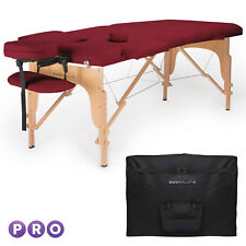 Burgundy Portable Massage Table with Carrying Case