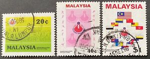 Wholesale LOT- Malaysia 1986 Malaysia Games of 3 stamps x 10 f.used