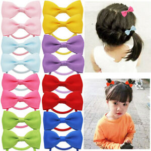 Bow Elastic Hair Ties Band Rope Ponytail Scrunchies Hair Holder for Girls Kids