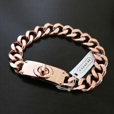 Coach Bracelet Turnlock Rose Gold Chain Link 99592 J4