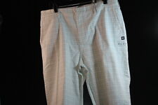 DC MEN'S DRESS / CASUAL CARGO SHORTS WHITE W/ TINY CHECKERS SOLID size 34