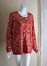 Talbots -Sz 2X Pure Italian Merino Wool Art-to-Wear Funky Rich Cardigan Sweater