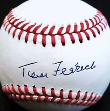 TOM FERRICK (D.1996) (BROWNS - SENATORS -YANKEES) SIGNED OAL BASEBALL PSA/DNA