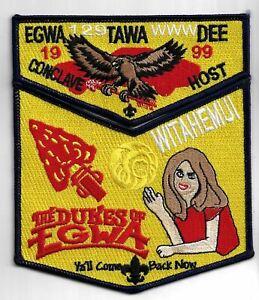 OA Egwa Tawa Dee Lodge 129 1999 Conclave Host S26&X14 Flap Set BLK Bdr. GA [MX-6
