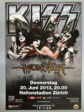 KISS 2013 Zurigo + + ORIG. CONCERT POSTER -- manifesto concerto NUOVO