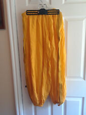 NEW Yellow & Gold Harem Pants, Belly Dance Genie Costume Size Large OOAK