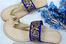 US Indian Kolhapuri Sandals Flat Mojari Ethnic Chappal Kolhapuri Online HH298