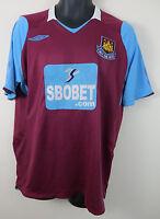 Umbro West Ham United Football Shirt 2008-09 Home Soccer Jersey Trikot Large L