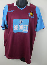 Umbro West Ham United Camiseta de fútbol 2008-09 Hogar fútbol Jersey Trikot Grande L