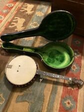 Vintage Antique 1920's? Style M Vega Banjo With Case, See Description And Photos