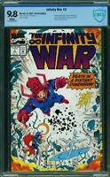 INFINITY WAR #3 9.8 nm/MT HIGHEST Graded Marvel Comics 1992 Near Mint/ MINT CBCS