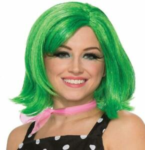 Green Pixie Wig 50's Short Fancy Dress Up Halloween Adult Costume Accessory
