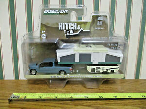 2015 Ford F-150 With Pop-Up Camper Trailer  Hitch & Tow Series By Greenlight