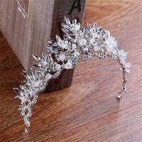 Luxury Barque Crown Zircon Wedding Tiara Bridal Headbands White Crystals Bridal