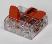 Wago 221 Klemmen 19x 221-413 Kabelverbinder in d. wiederverschließb Box Original