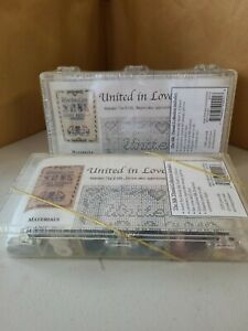 """Lot of 2 New Kreinik Embroidery Silk Thread Collection Kits """"UNITED IN LOVE"""""""