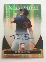 Travis Shaw 2011 Donruss Elite Die-Cut RC Auto/Autograph #12/25 Red Sox FREE SH