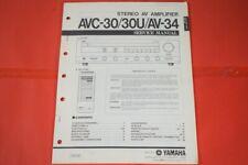 Originale Service Anleitung und Schaltplan Yamaha AVC-30/AVC-30U/AV-34 Amplifier