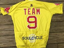 WOW Boston Red Sox Foundation Team #9 Cycling Yellow Jersey Stitched Vomax Sz L