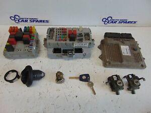 Fiat Doblo Cargo 00-05 1.3JTD Manual ECU Kit BSI Ignition Fuel Flap Key 51758210