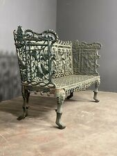 More details for large 20th century cast iron garden bench