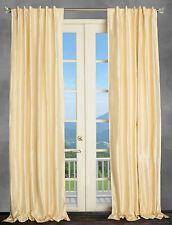 100% Dupioni Silk, 2 Pearl Beige cream drapery, curtain, windown panel. 50 X 108