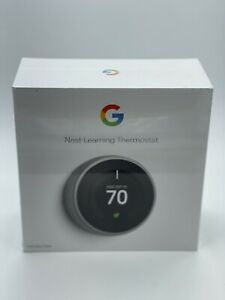 Google Nest Learning Thermostat, 3rd Gen, Stainless Steel - Free Shipping NEW